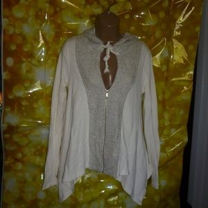 Free People ivory/ oatmeal  Zip Up Hoodie sz. XS